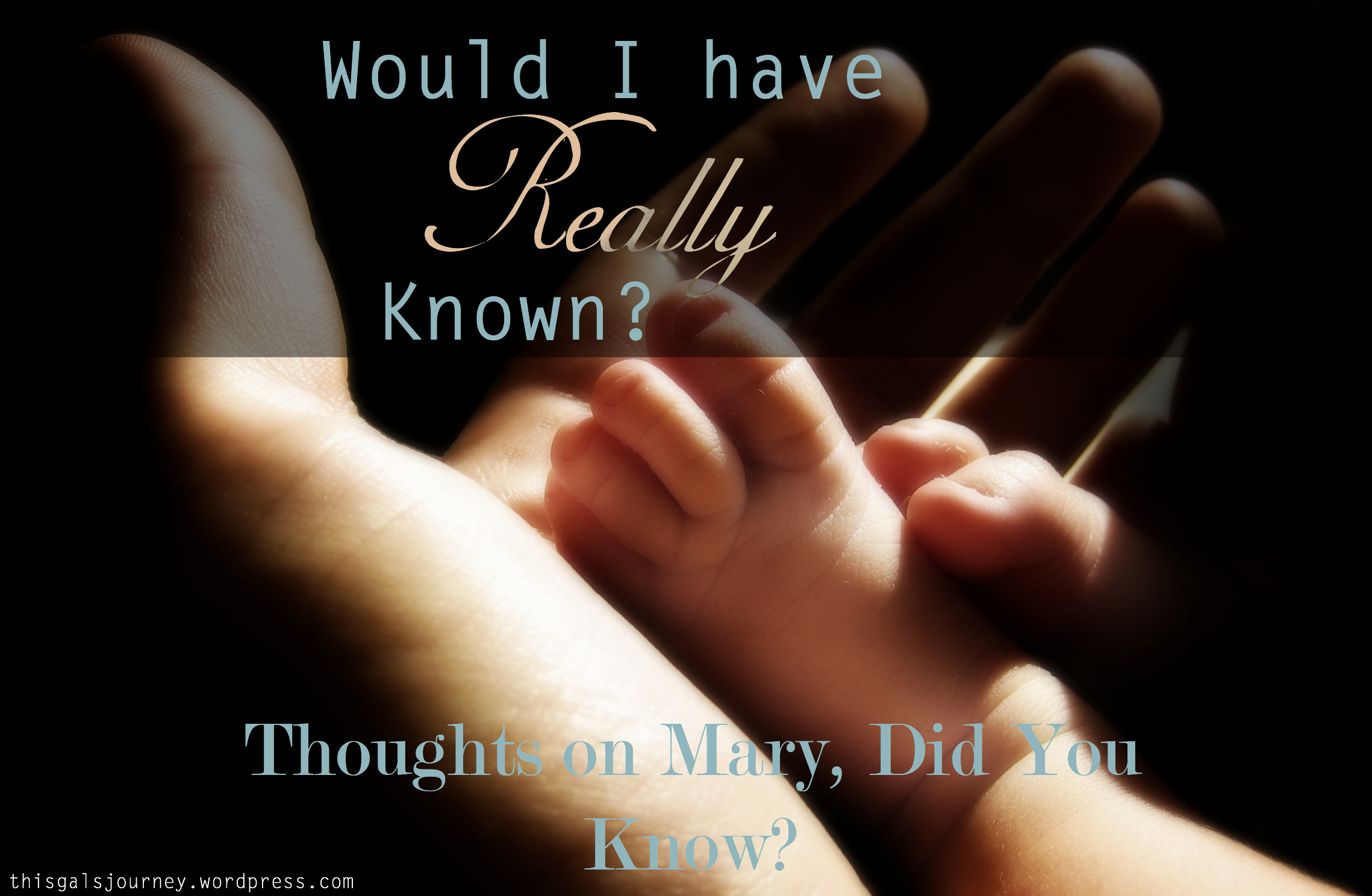 Would I Have Really Known? {Thoughts on 'Mary, Did You Know?'}